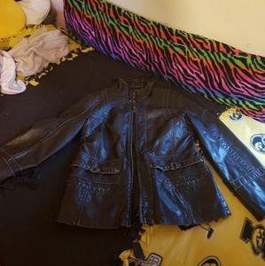 Black not leather jacket